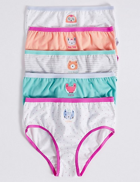 Pure Cotton Animal Face Briefs (18 Months - 12 Years)