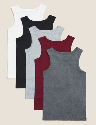 5 Pack Cotton Vests (2-16 Years)