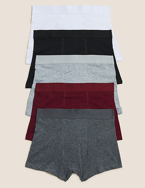 5 Pack Cotton Rich Trunks (2-16 Years)