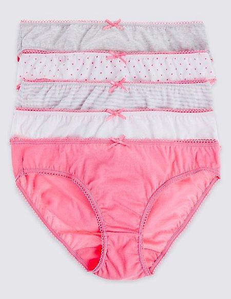 Pure Cotton Bikini Knickers (6-16 Years)