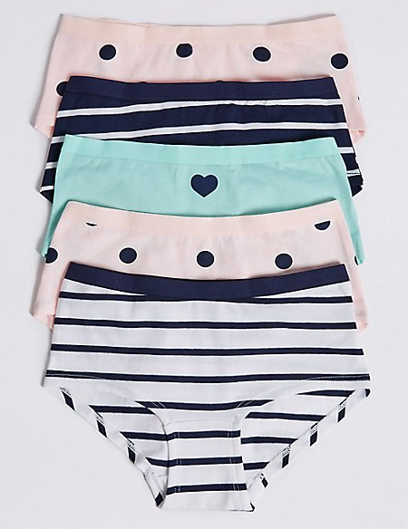 5 Pack Cotton Shorts with Stretch (6-16 Years)