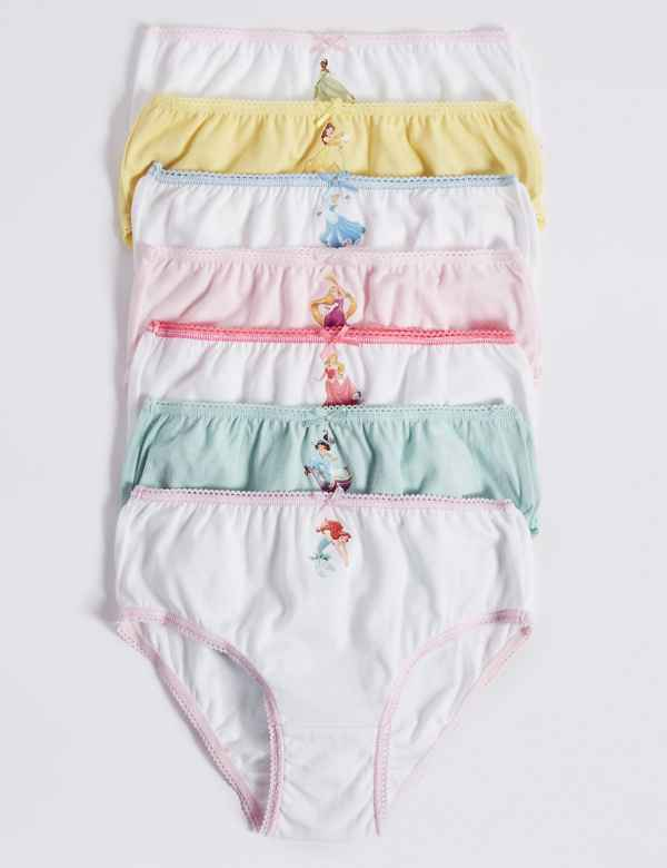 bf3c5ee9880 7 Pack Pure Cotton Disney Princess™ Briefs (18 Months - 12 Years)