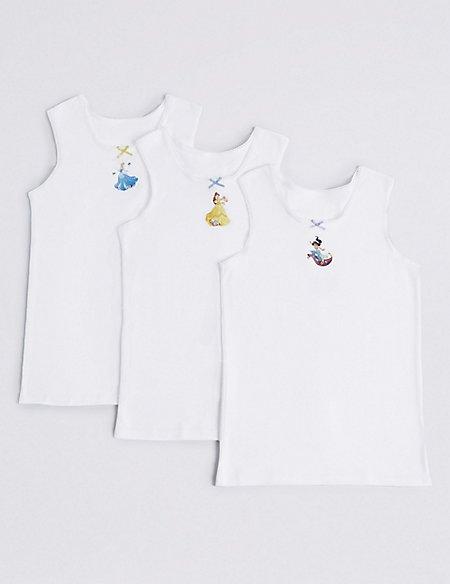 3 Pack Disney Princess™ Vests (18 Months - 12 Years)