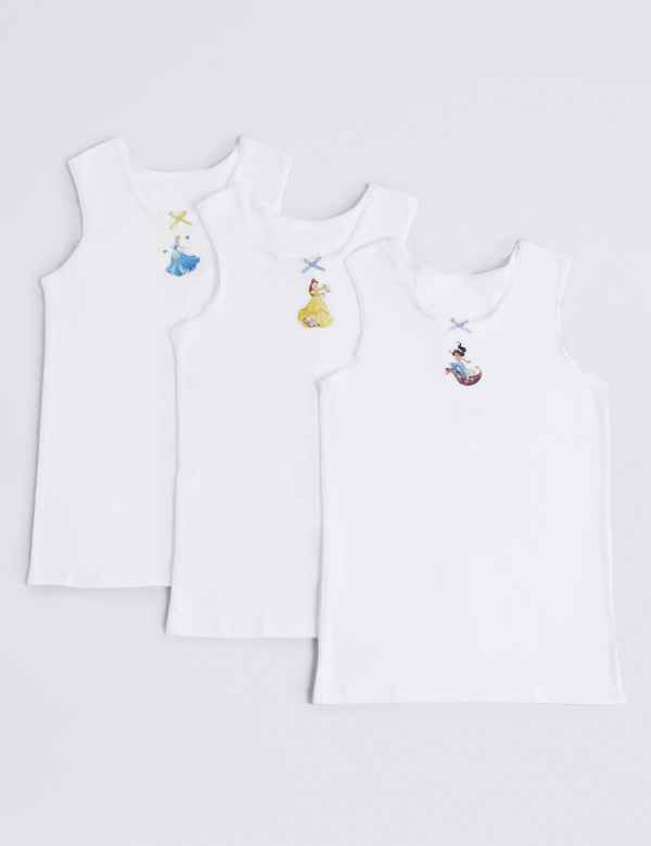 775203a061 3 Pack Disney Princess™ Vests (18 Months - 12 Years)