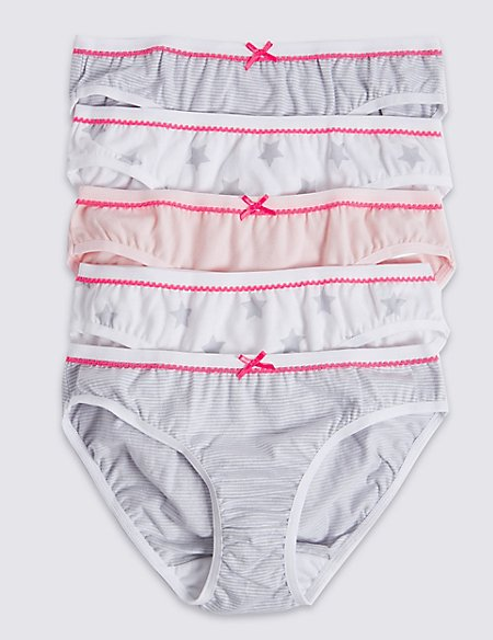 Pure Cotton Bikini Knickers (6-16 Years)