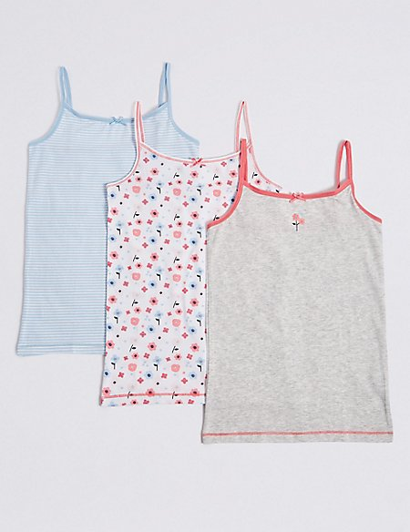 3 Pack Cotton Vest with Stretch (18 Months - 12 Years)