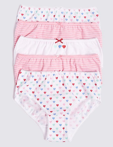 new 5 pack M/&S girls briefs 9-10 years