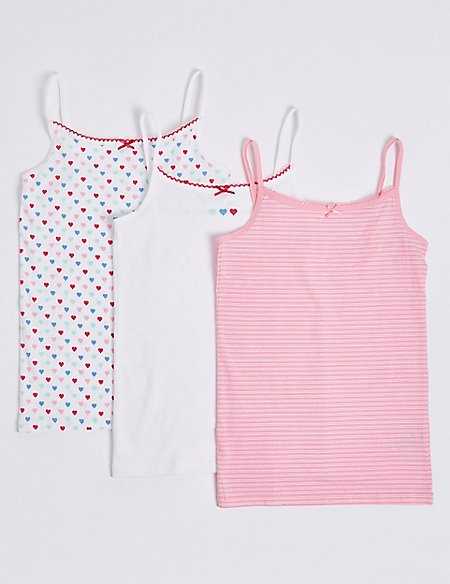 3 Pack Printed Camisole (18 Months - 12 Years)
