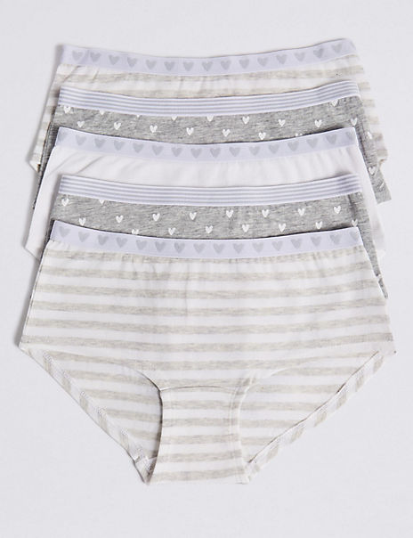 5 Pack Cotton with Stretch Shorts (6-16 Years)