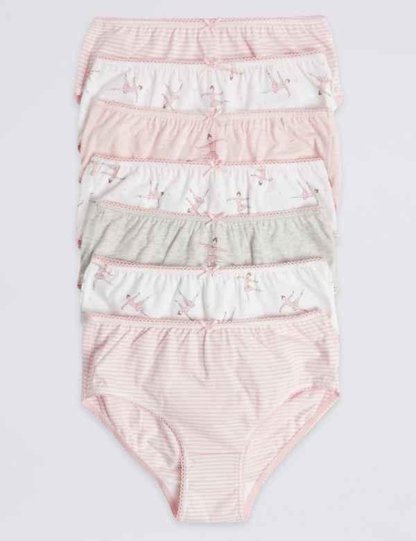 7 Pack Pure Cotton Ballerina Briefs (18 Months - 12 Years) d04060d16