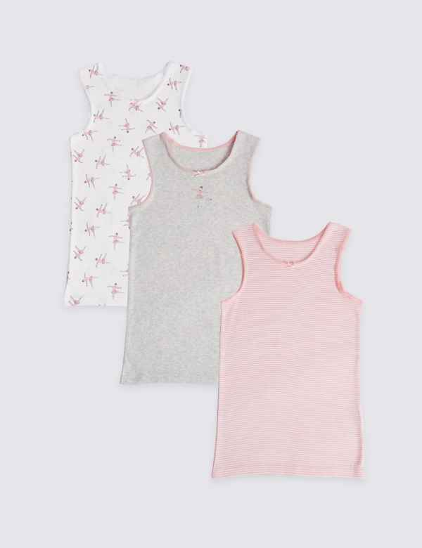 d4d3e89f67ff5a 3 Pack Ballerina Vests (18 Months - 12 Years)