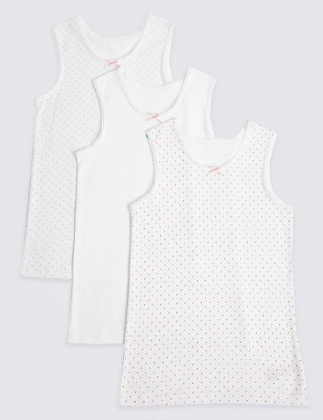 3 Pack Pure Cotton Unicorn Vests (18 Months - 12 Years)