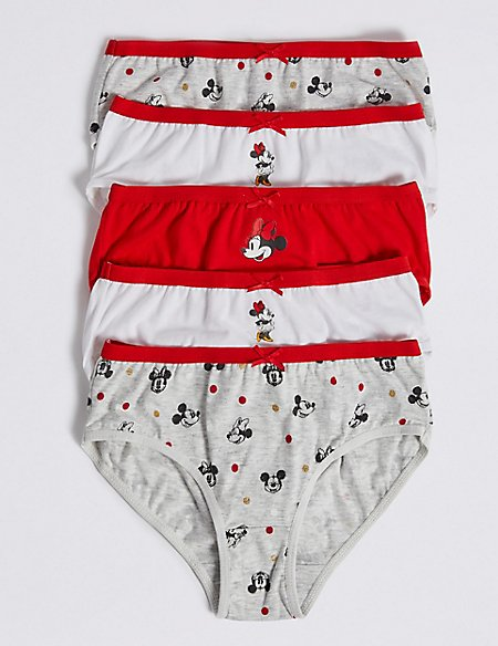 5 Pack Minnie Mouse™ Pure Cotton Briefs (18 Months - 12 Years)