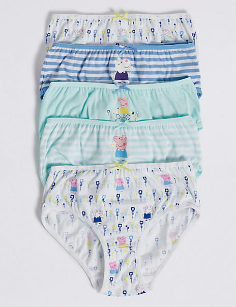 5 Pack Pure Cotton Peppa Pig™ Briefs (18 Months - 8 Years)