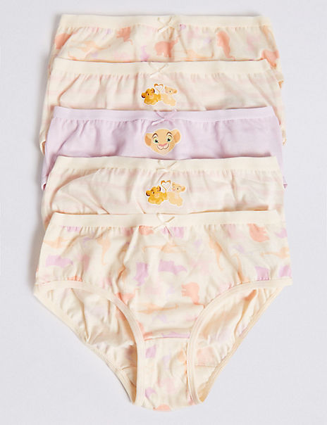 5 Pack Pure Cotton Lion king™ Briefs (18 Months - 12 Years)