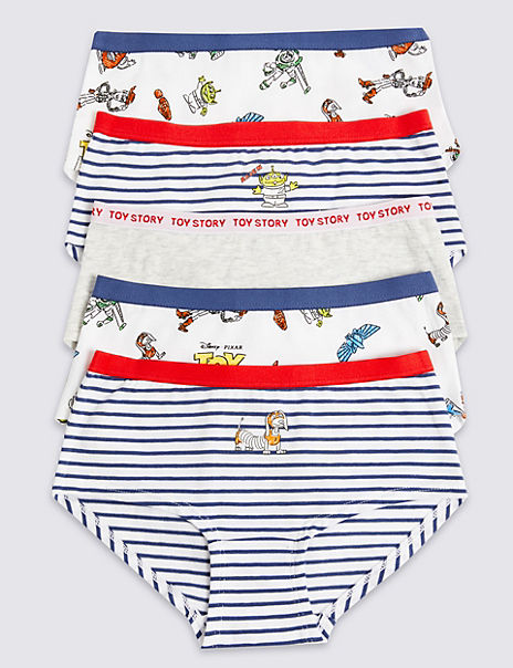5 Pack Cotton with Stretch Toy Story™ Shorts (6-16 Years)