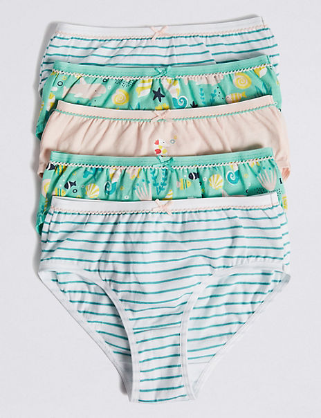5 Pack Pure Cotton Sea Horse Briefs (18 Months - 12 Years)