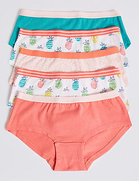78c8d413c01 5 Pack Cotton with Stretch Shorts (6-16 Years)