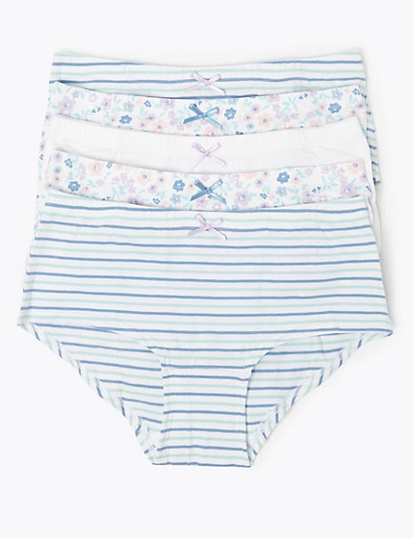 5 Pack Floral & Striped Shorts (6-16 Years)