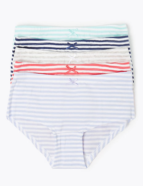5 Pack Stripe Shorts (6-16 Years)