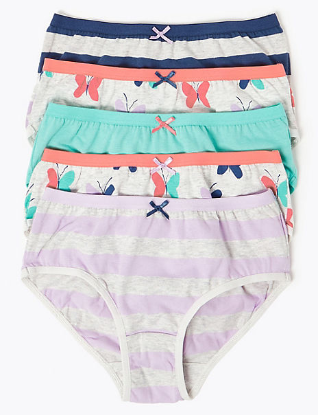 5 Pack Cotton Butterfly Briefs (18 Months - 12 Years)