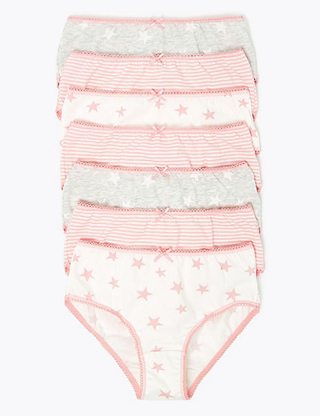 7 Pack Cotton Star Knickers (2-16 Years)
