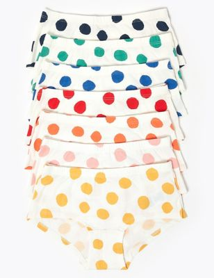 7 Pack Spotty Shorts (2-16 Years)