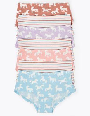 7 Pack Unicorn Shorts (2-16 Yrs)