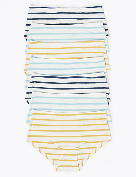 7 Pack Striped Shorts (2-16 Years)