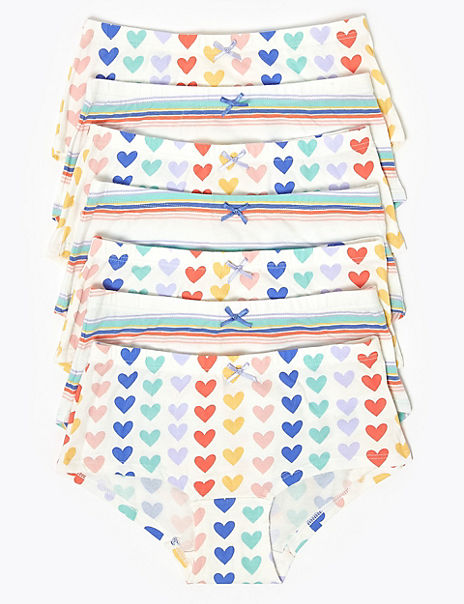 7 Pack Heart Shorts (2-16 Years)