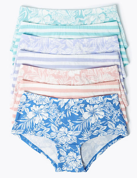 7 Pack Floral Mix Shorts (2-16 Years)