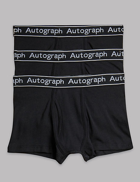 3 Pack Cotton with Lycra® Trunks (4-16 Years)
