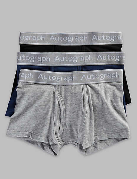 3 Pack Cotton with Lycra Trunks (4-16 Years)