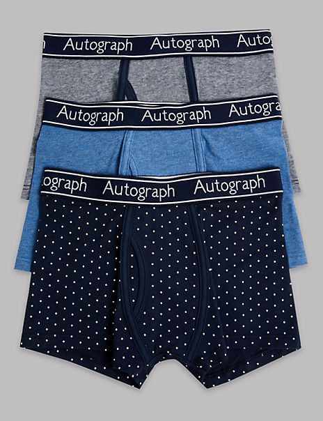 3 Pack Cotton with Lycra® Trunks (6-16 Years)