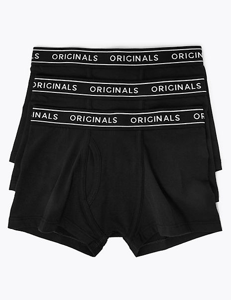 3 Pack Cotton Originals Trunks (4-16 Years)