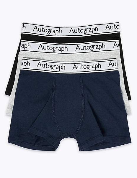 3 Pack Cotton with Lycra™ Trunks (6-16 Years)