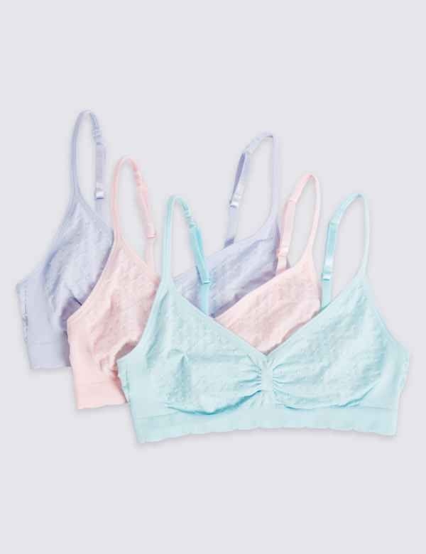 bb65193fd87de 3 Pack Seamfree Cropped Tops (6-16 Years)