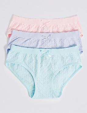 3 Pack Seamfree Bikini Knickers (6-16 Years)