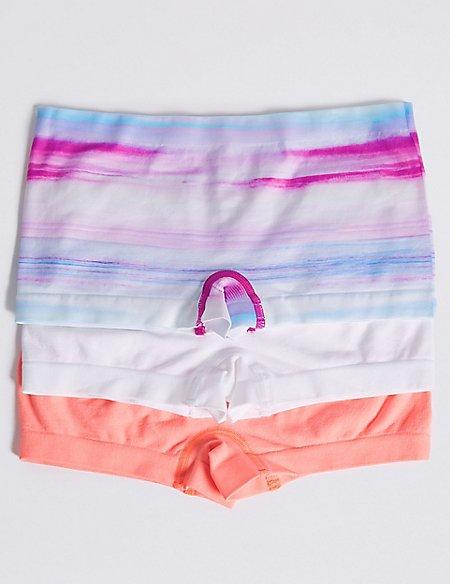 Seamfree Striped Shorts (6-16 Years)