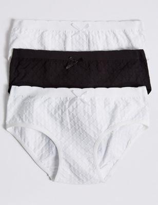 Teens white panty Black