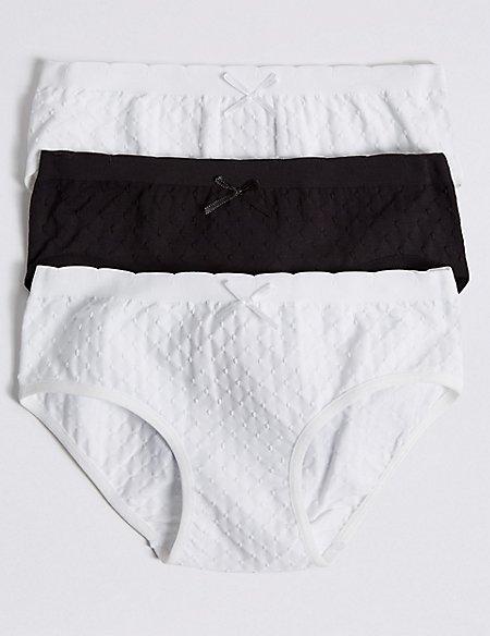3 Pack Seamfree Bikini Knickers (6-16 Years)