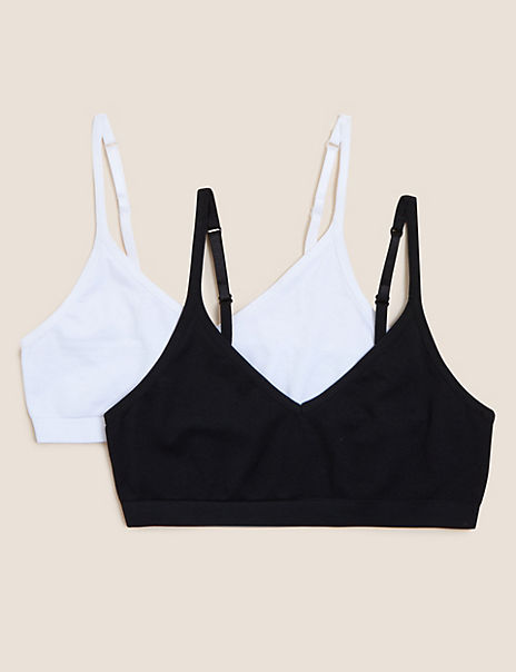 2 Pack Seamfree Cropped Tops (9-16 Years)