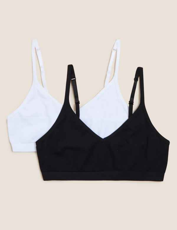bf5ba3d1d 2 Pack Seamfree Cropped Tops (9-16 Years)