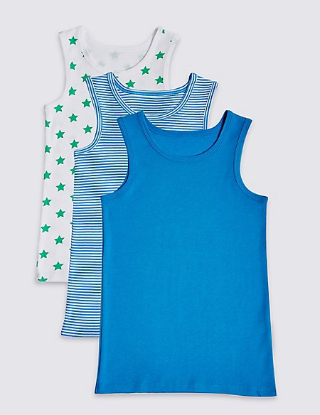 Pure Cotton Vests (18 Months - 8 Years)