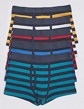5 Pack Cotton Trunks with Stretch (18 Months -16 Years)