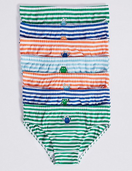 7 Pack Pure Cotton Briefs (18 Months - 8 Years)