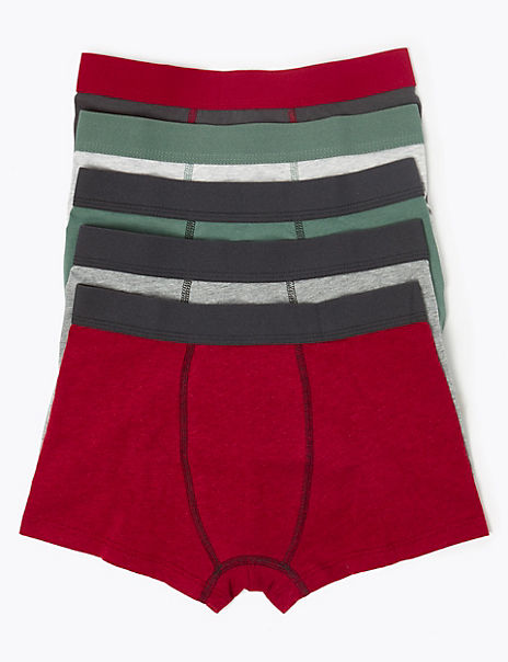5 Pack Cotton with Stretch Trunks (18 Months - 16 Years)