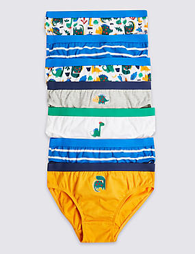 e92ccf608b3bd 7 Pack Pure Cotton Dinosaurs Briefs (18 Months - 8 Years)