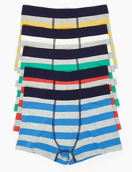 5 Pack Bright Striped Trunks (2-16 Years)