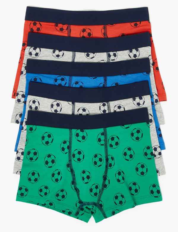 Boys 4 Pack 9//12yrs Bright Red Blue Orange Green Football Character Boxer Shorts Briefs